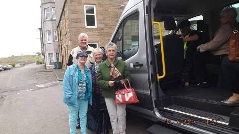 Boness Community Bus Blackness Passengers