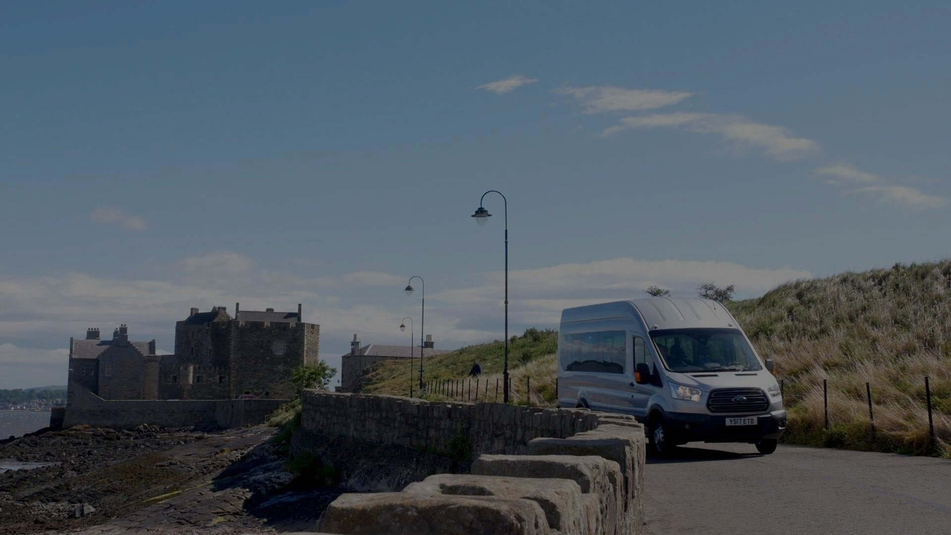 Boness Community Bus at Blackness Castle