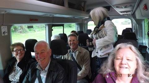 Boness Community Bus Full of Passengers