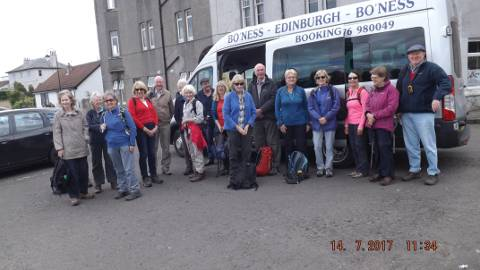 Boness Community Bus with John Muir Way Walkers