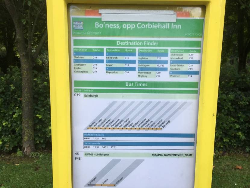 Boness Community Bus Destinations