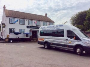 Boness Community Bus at Blackness Inn
